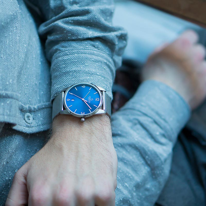 Obaku Men watch STEN - CYAN SM1 view