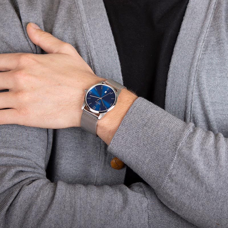 Obaku Men watch STEN - CYAN WRIST view