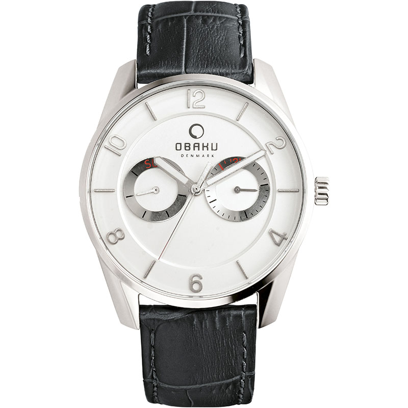 Obaku Men watch FLINT - BLACK FRONT view