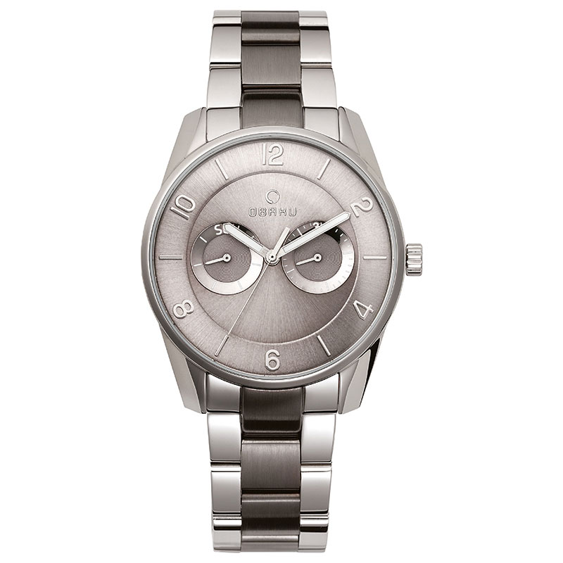 Obaku Men watch FLINT - STEEL BI FRONT view