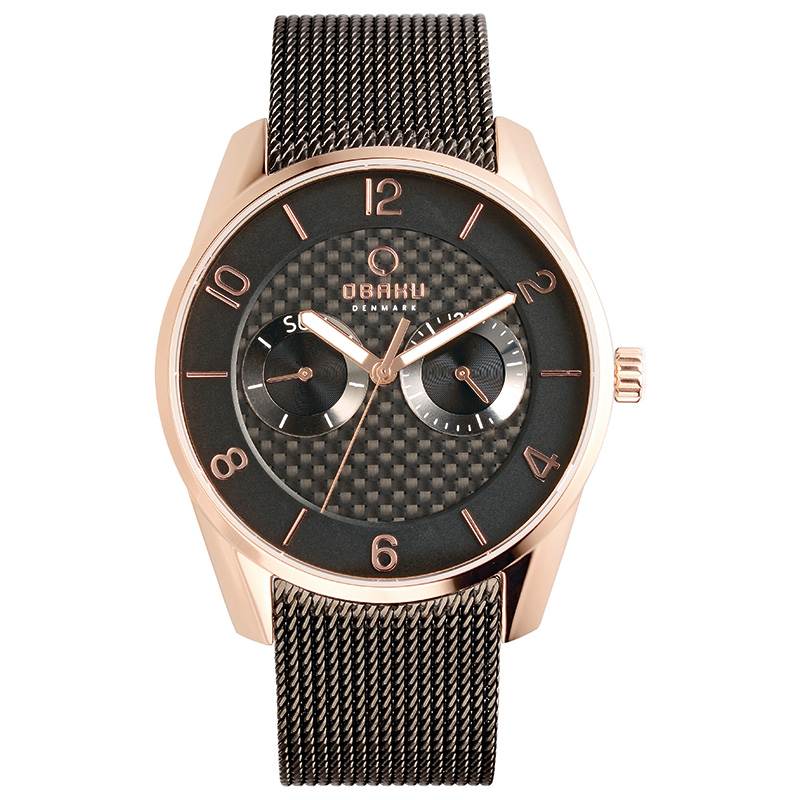 Obaku Men watch FLINT - NIGHT FRONT view