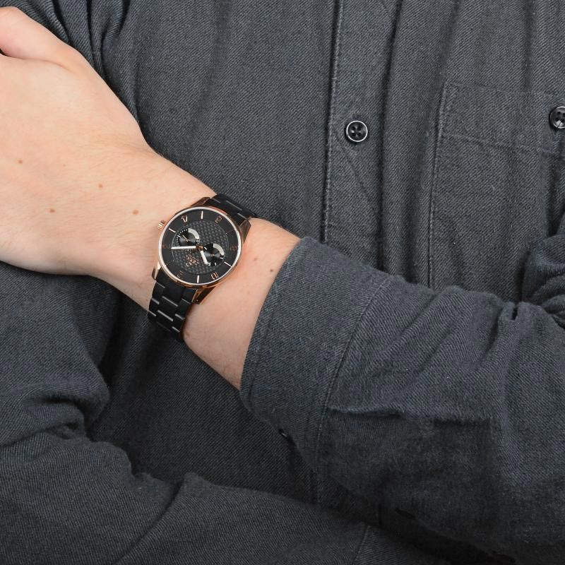 Obaku Men watch FLINT - INK WRIST view