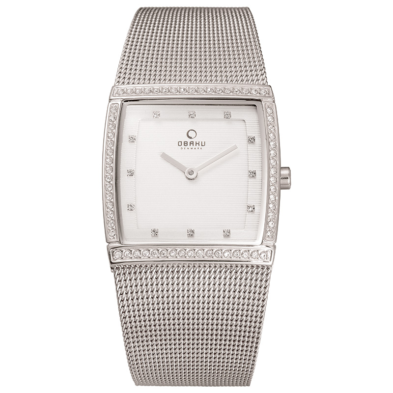 Obaku Women watch LUND GLIMT - STEEL FRONT view