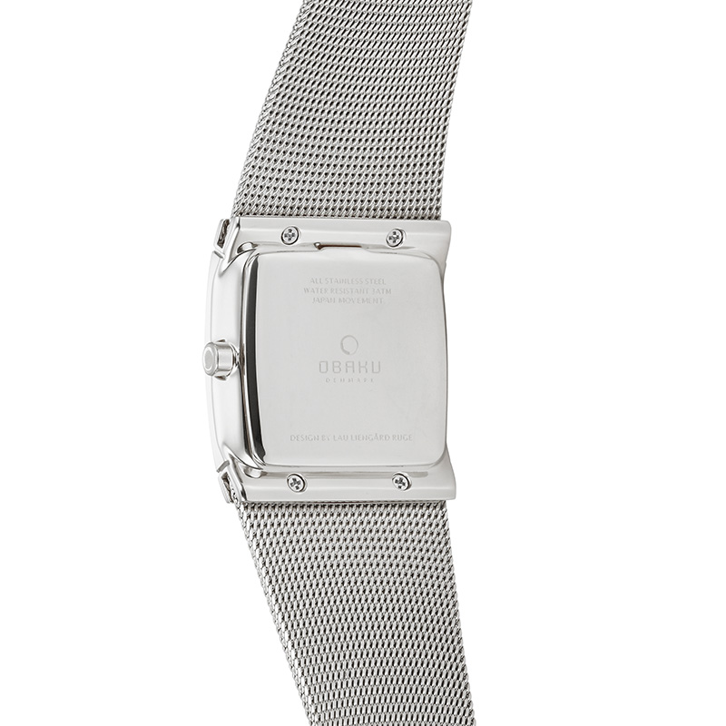 Obaku Women watch LUND GLIMT - STEEL BACK view