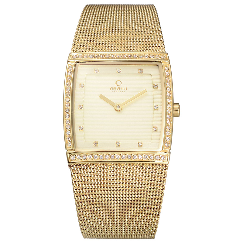Obaku Women watch LUND GLIMT - GOLD FRONT view