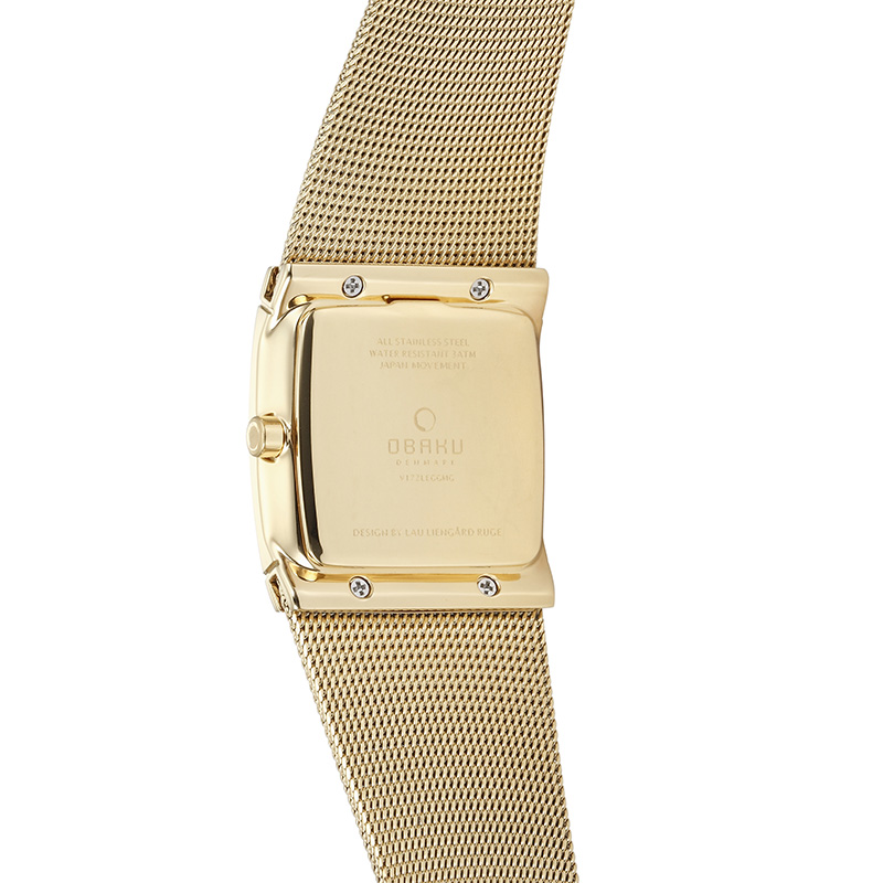 Obaku Women watch LUND GLIMT - GOLD BACK view