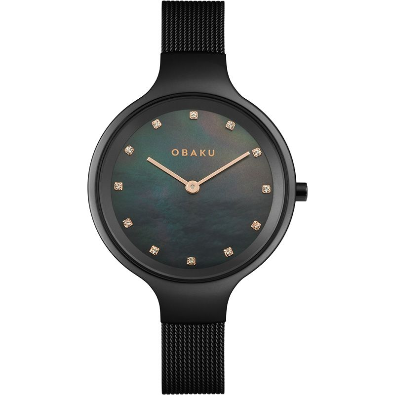 Obaku Women watch SKY - CHARCOAL FRONT view