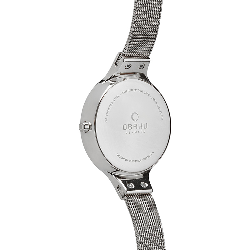 Obaku Women watch SKY - STEEL BACK view