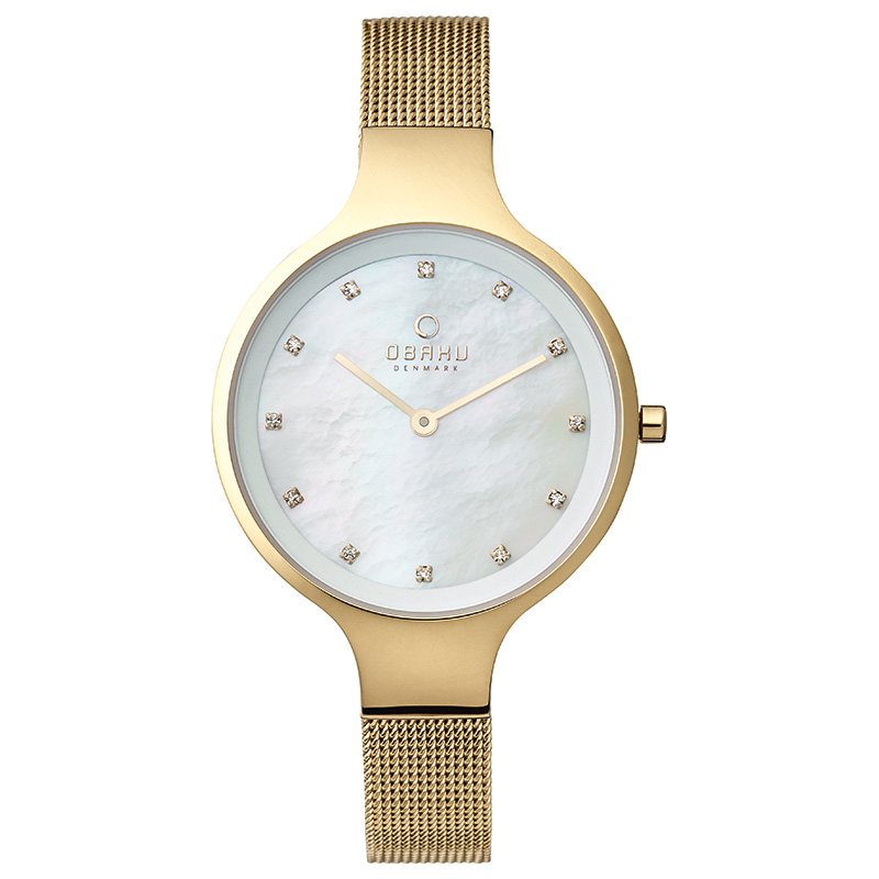 Obaku Women watch SKY - GOLD FRONT view