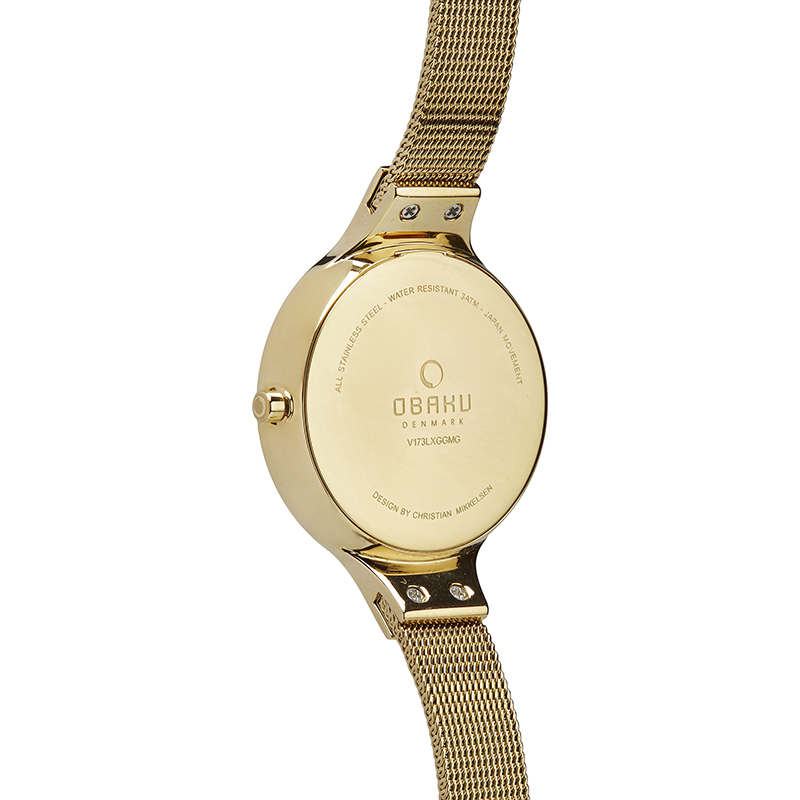 Obaku Women watch SKY - GOLD BACK view