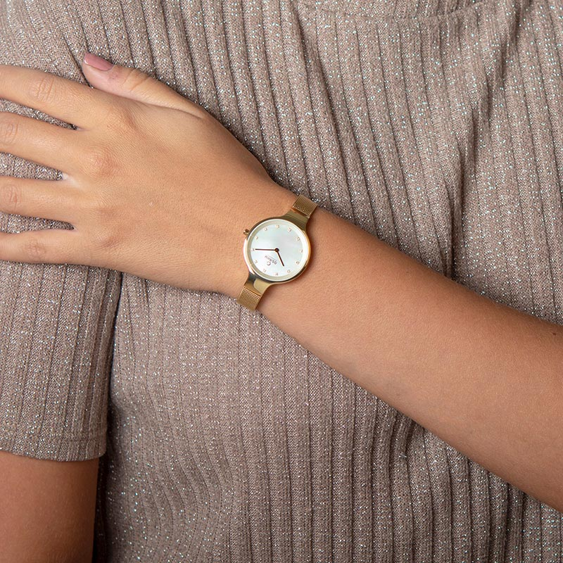 Obaku Women watch SKY - GOLD WRIST view
