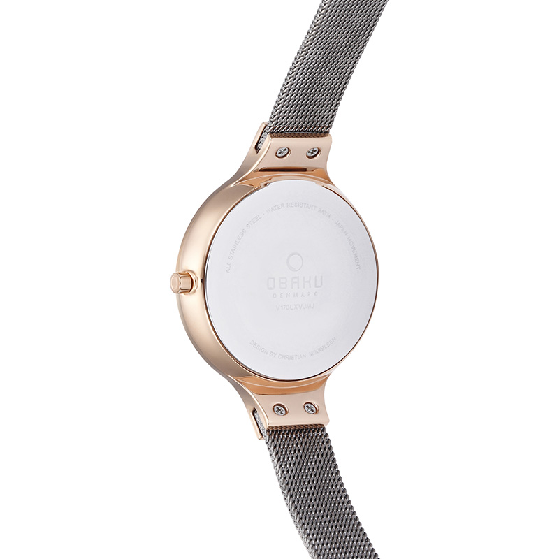 Obaku Women watch SKY - GRANITE BACK view
