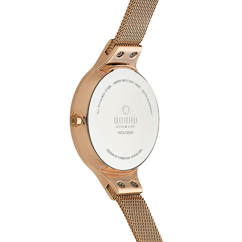 Obaku Women watch SKY - AZURE BACK view