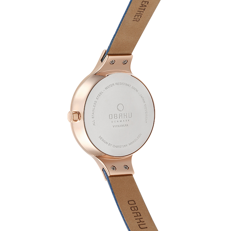 Obaku Women watch SKY - NAVY BACK view