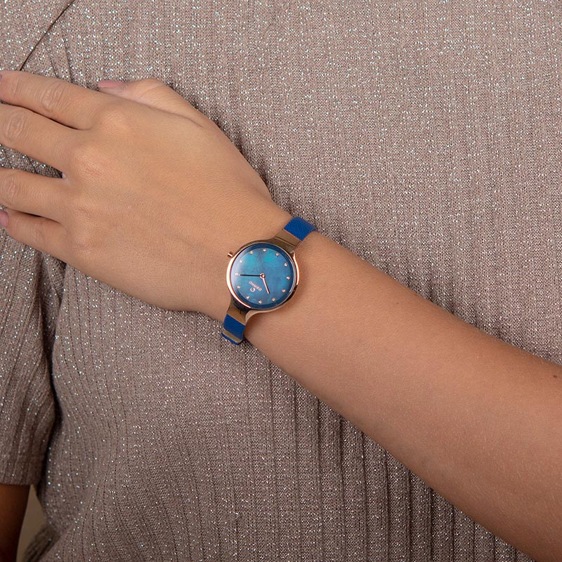 Obaku Women watch SKY - NAVY WRIST view
