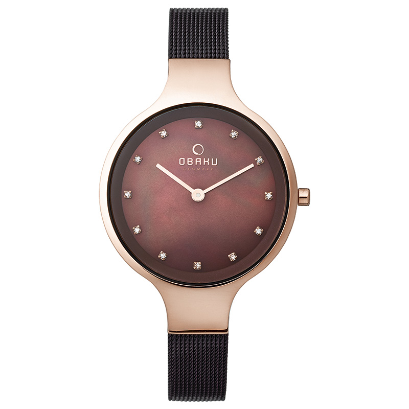 Obaku Women watch SKY - WALNUT FRONT view