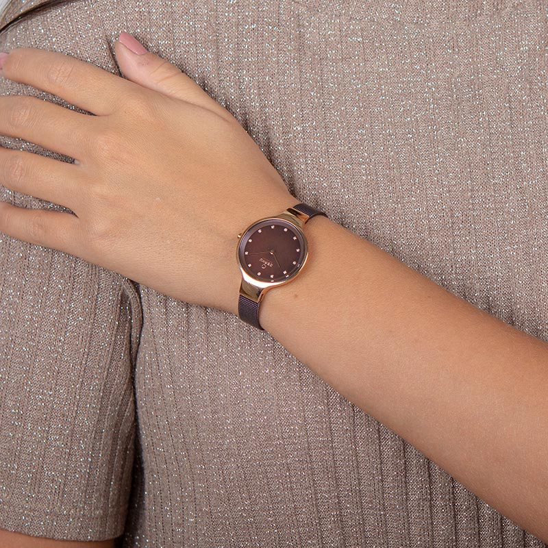 Obaku Women watch SKY - WALNUT WRIST view