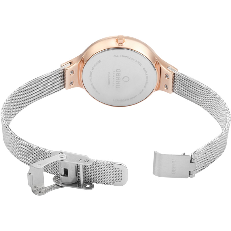Obaku Women watch SKY - ROSE BI OPEN view