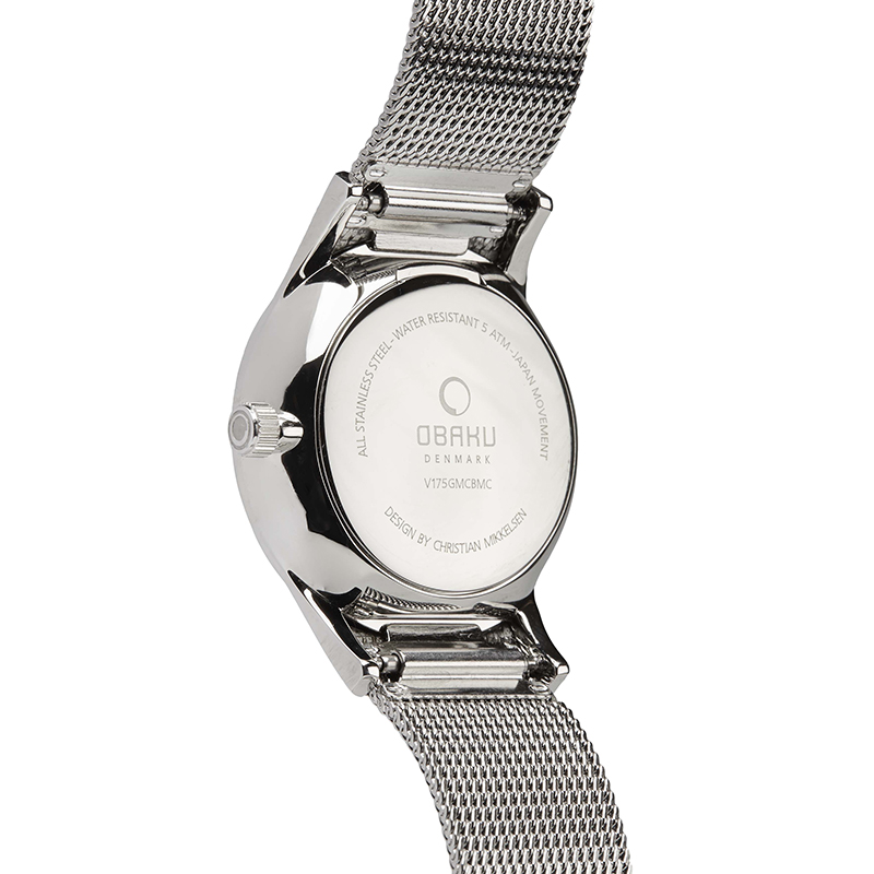 Obaku Men watch VILD - ONYX BACK view