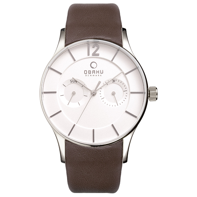 Obaku Men watch VILD - MOCHA FRONT view