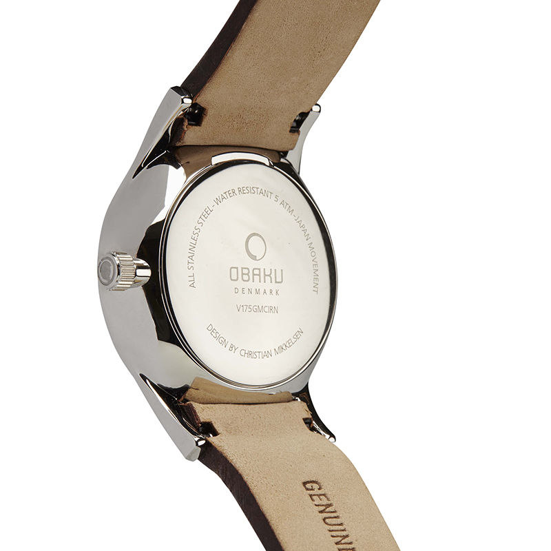 Obaku Men watch VILD - MOCHA BACK view