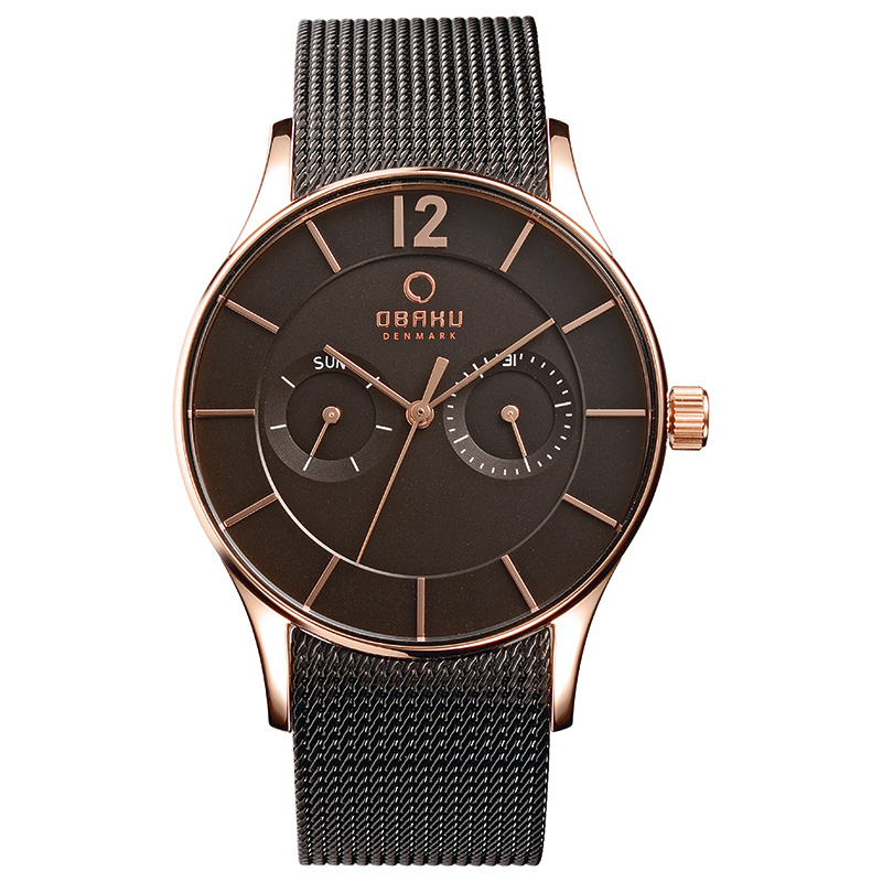 Obaku Men watch VILD - NIGHT FRONT view