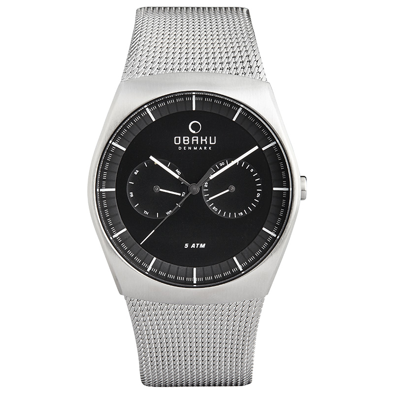 Obaku Men watch JORD - ONYX FRONT view