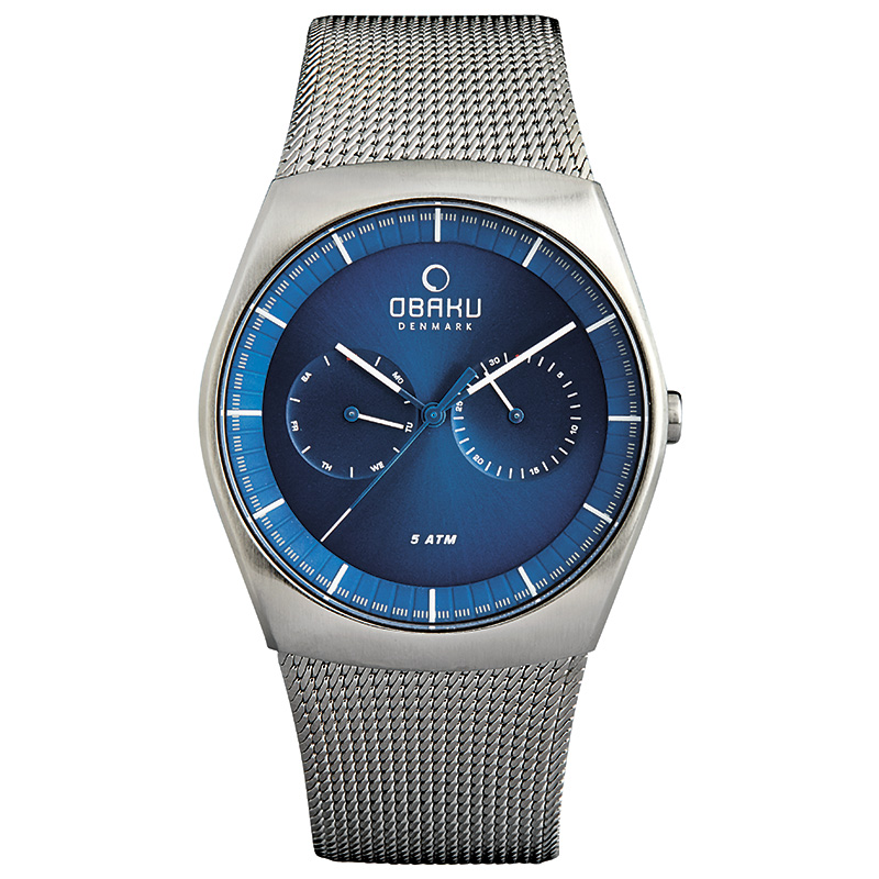 Obaku Men watch JORD - CYAN FRONT view