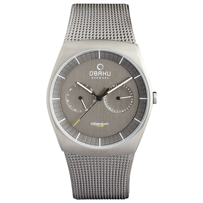 Obaku Men watch JORD - TITANIUM FRONT view