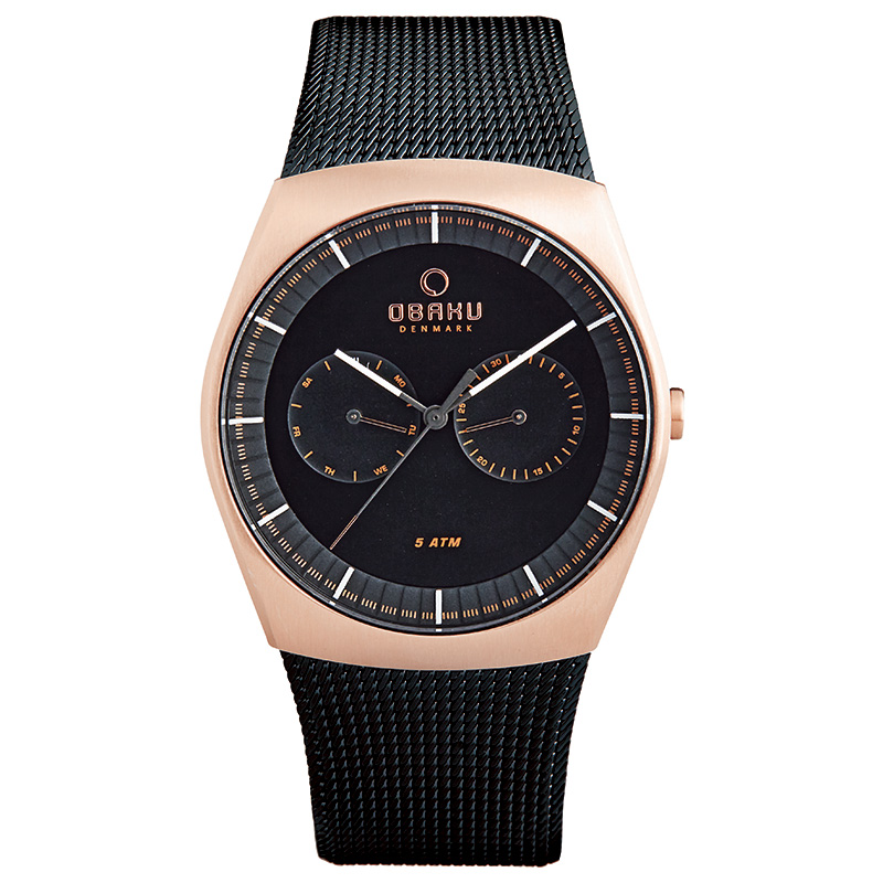 Obaku Men watch JORD - NIGHT FRONT view