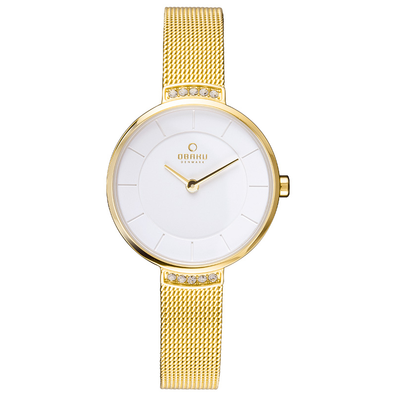 Obaku Women watch VARM - GOLD FRONT view