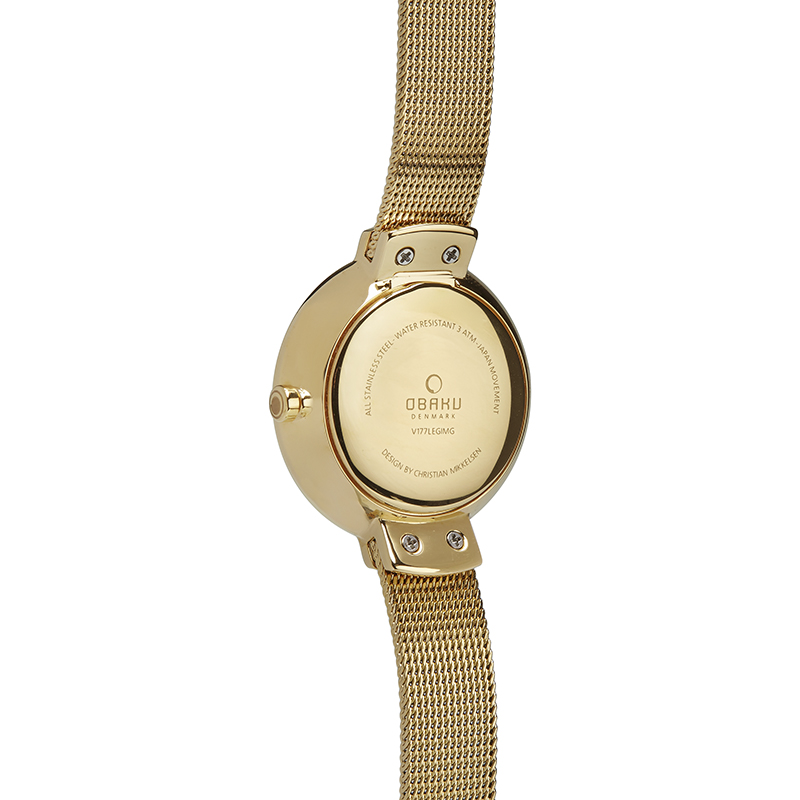 Obaku Women watch VARM - GOLD BACK view