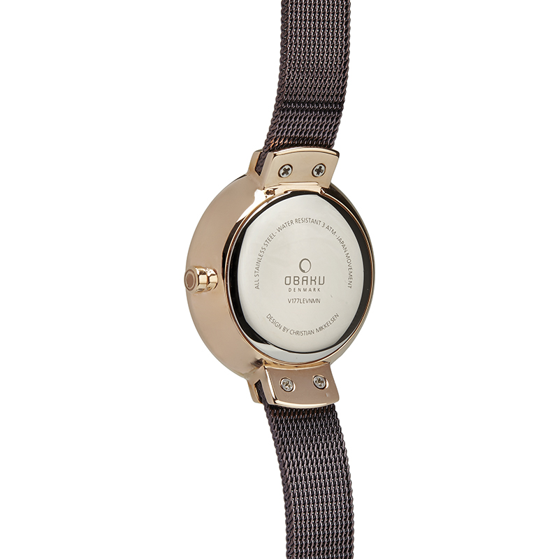 Obaku Women watch VARM - WALNUT BACK view
