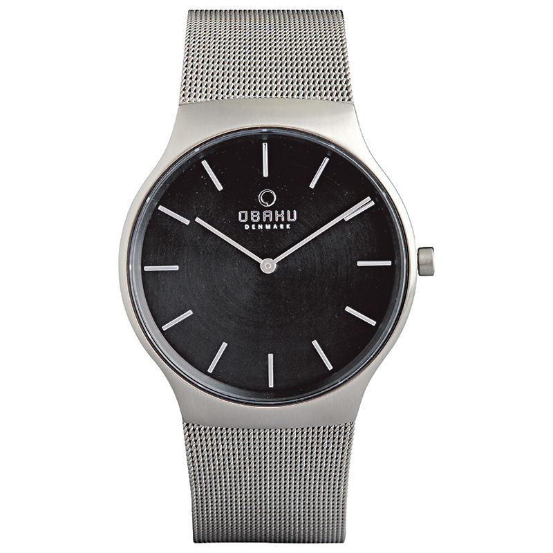 Obaku Men watch ROLIG - ONYX FRONT view
