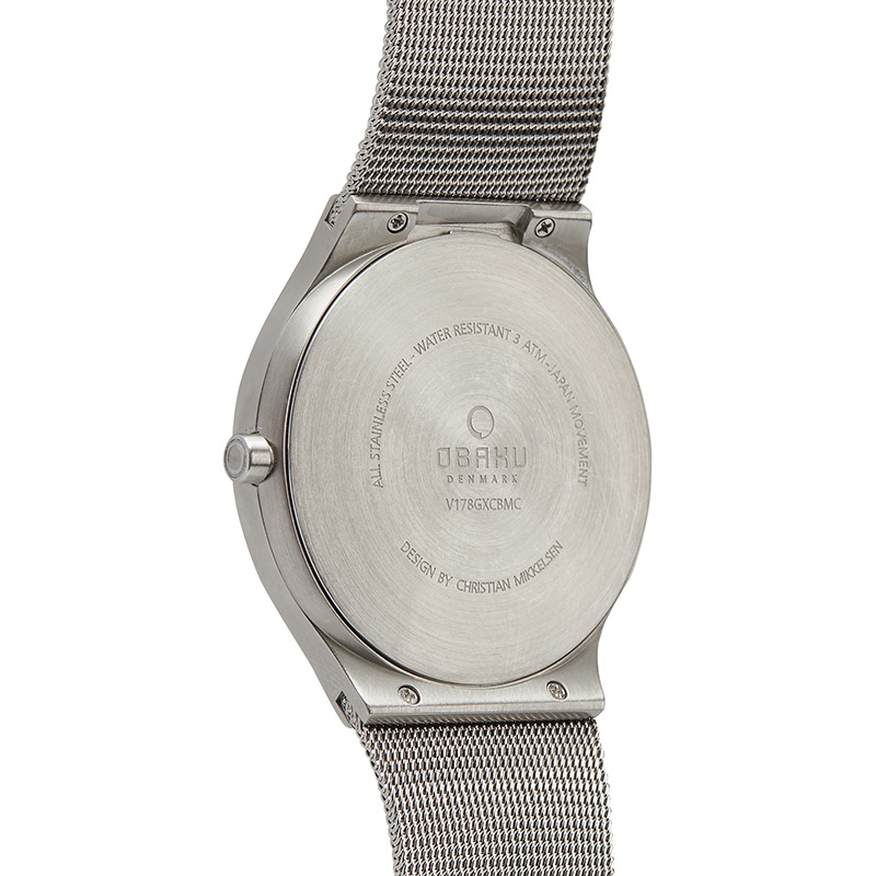 Obaku Men watch ROLIG - ONYX BACK view
