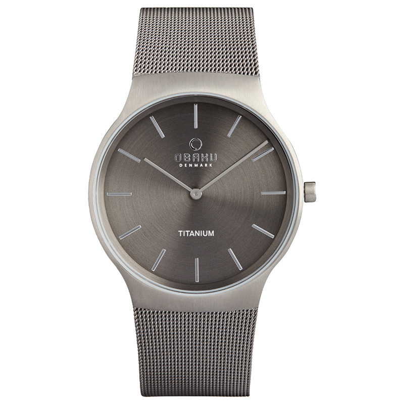 Obaku Men watch ROLIG - TITANIUM FRONT view
