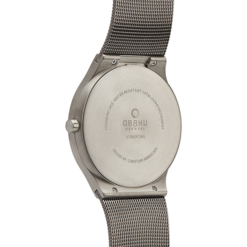 Obaku Men watch ROLIG - TITANIUM BACK view