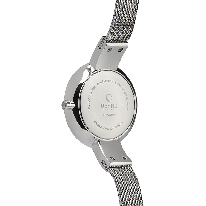 Obaku Women watch SOL GLIMT - STEEL BACK view