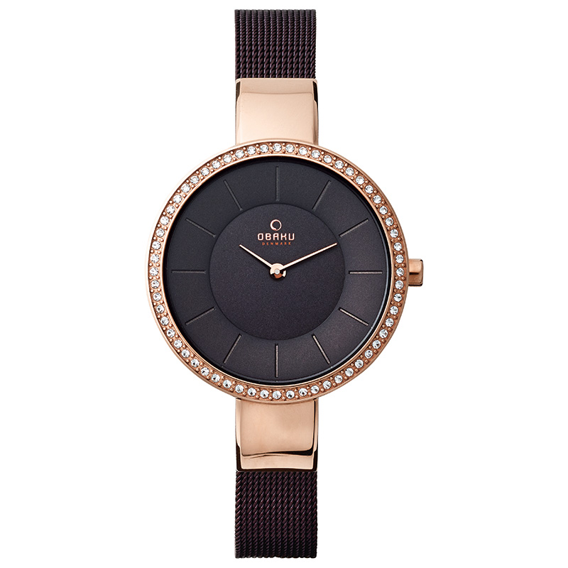 Obaku Women watch SOL GLIMT - WALNUT FRONT view