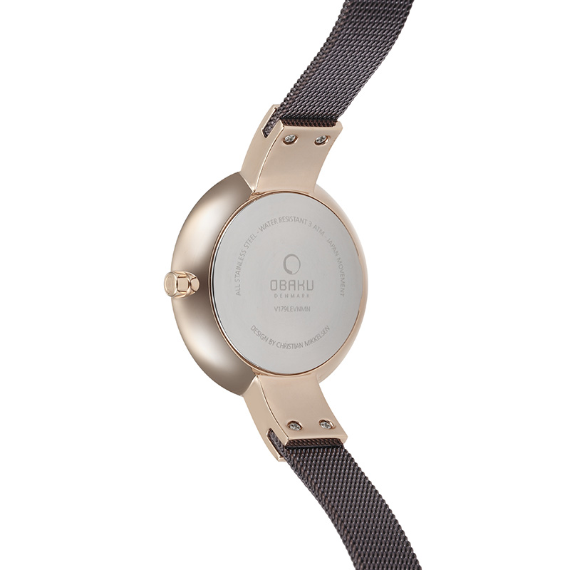 Obaku Women watch SOL GLIMT - WALNUT BACK view