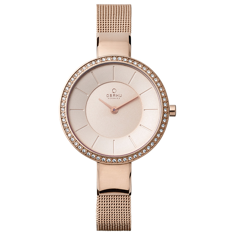 Obaku Women watch SOL GLIMT - ROSE FRONT view