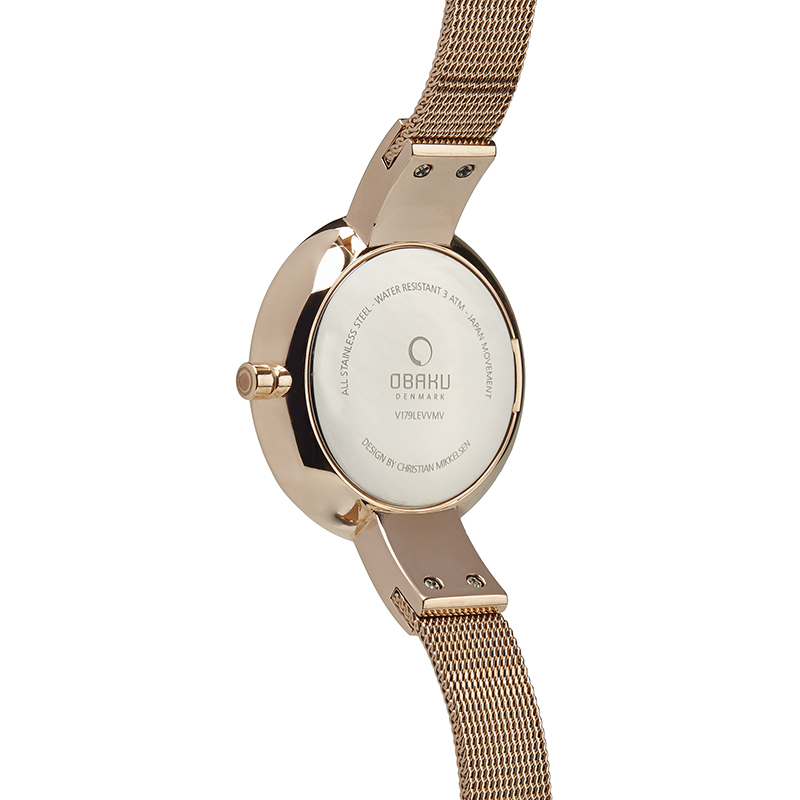 Obaku Women watch SOL GLIMT - ROSE BACK view