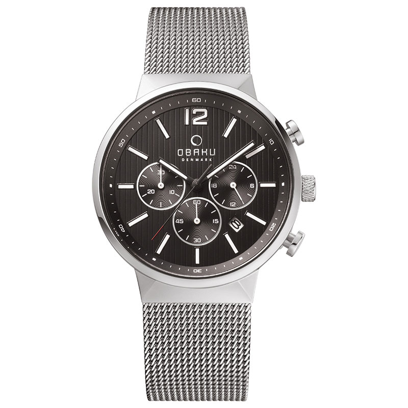 Obaku Men watch STORM - ONYX FRONT view