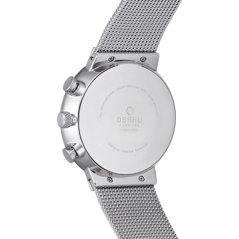 Obaku Men watch STORM - ONYX BACK view