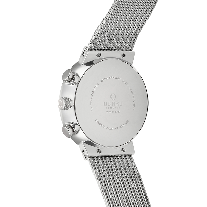 Obaku Men watch STORM - CYAN BACK view