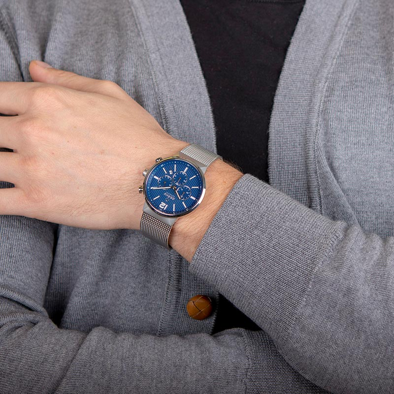 Obaku Men watch STORM - CYAN WRIST view