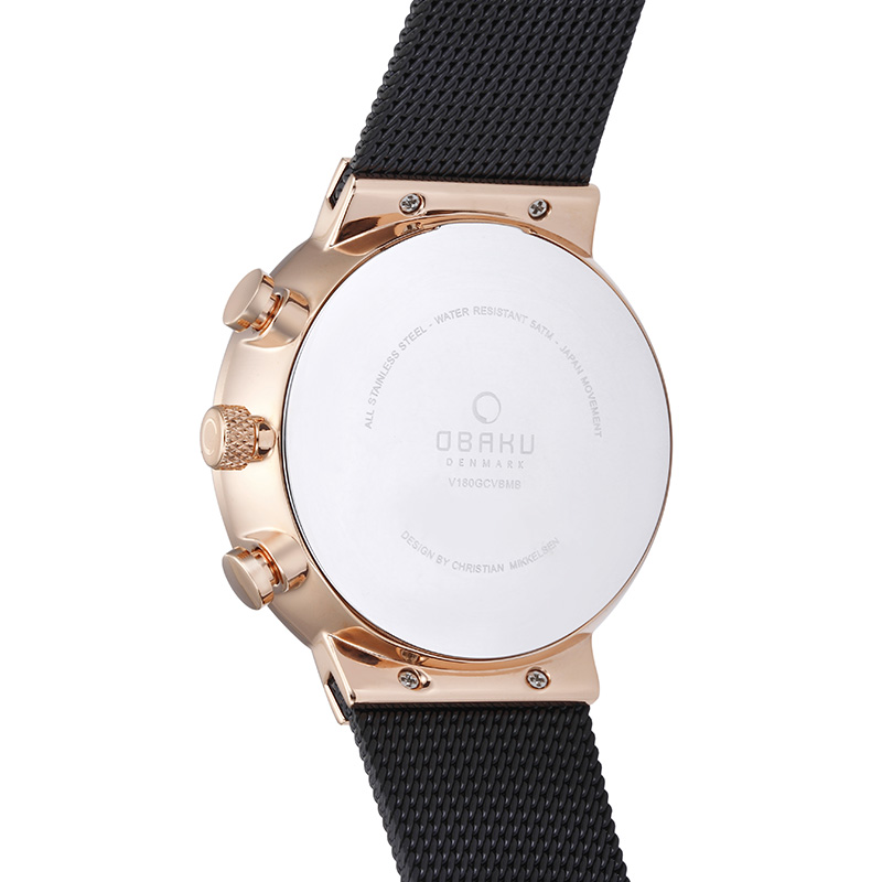 Obaku Men watch STORM - NIGHT BACK view