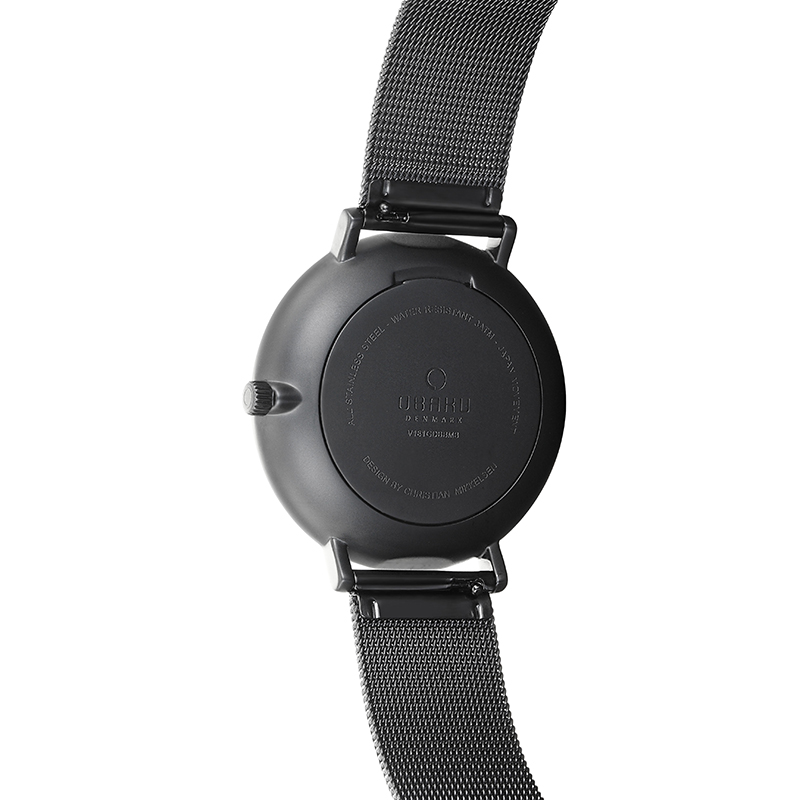 Obaku Men watch TOFT - CHARCOAL BACK view
