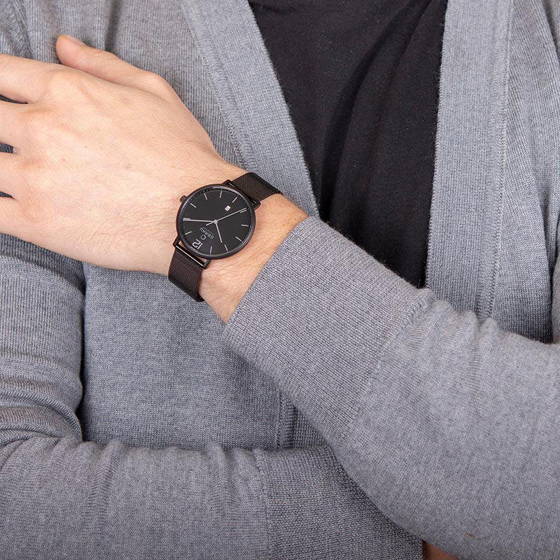Obaku Men watch TOFT - CHARCOAL WRIST view