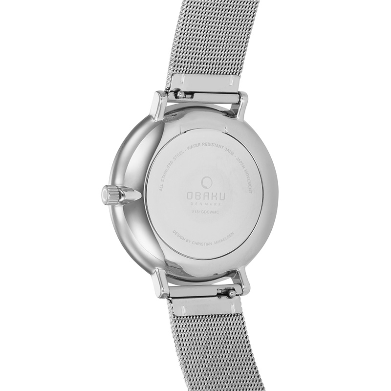 Obaku Men watch TOFT - STEEL BACK view